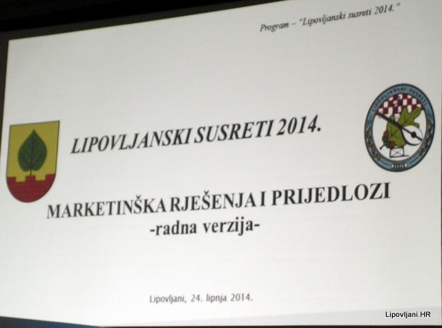 USUGLAŠEN PROGRAM 'LIPOVLJANSKIH SUSRETA 2014.