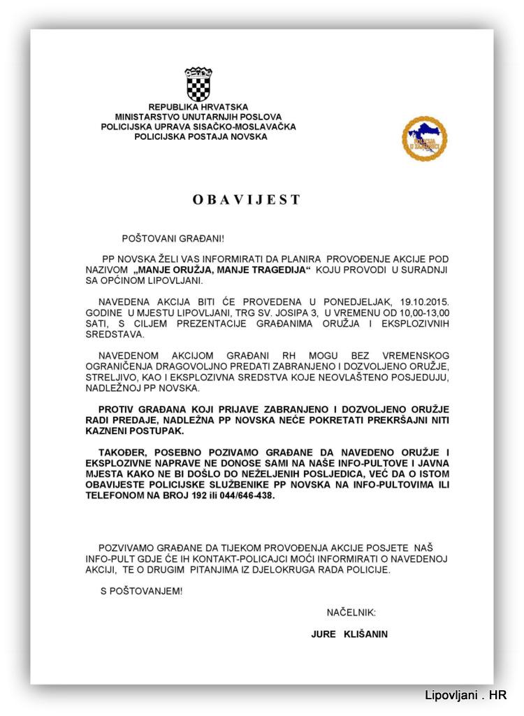1-AKCIJA MANJE ORUŽJA, MANJE TRAGEDIJA 12.05.2015.