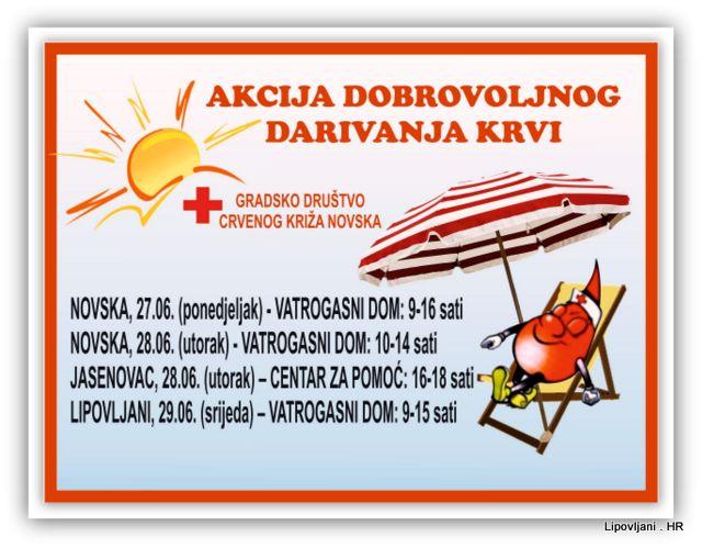 Najava akcije Dobrovoljnog darivanja krvi
