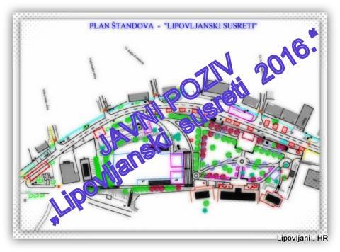 """JAVNI POZIV Za privremeno korištenje javnih površina u sklopu Manifestacije """"Lipovljanski  susreti  2016."""""""