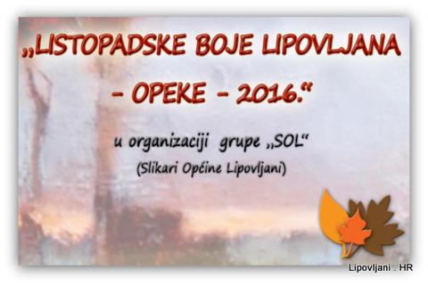LISTOPADSKE BOJE LIPOVLJANA – OPEKE – 2016
