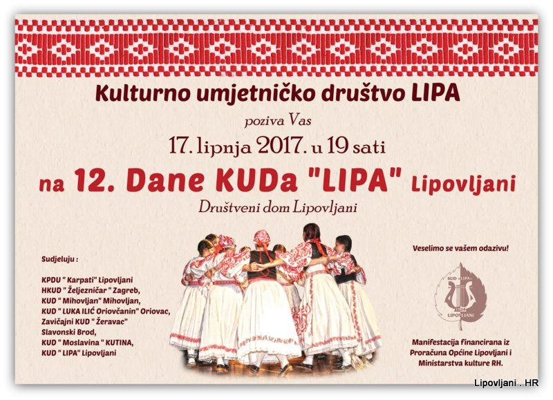 """Dani KUDa """" LIPA"""" Lipovljani"""