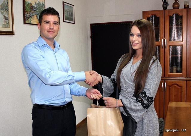 Prijem Sabine Čavlović predstavnice finalnog natjecanja Miss Hrvatske za Miss Svijeta