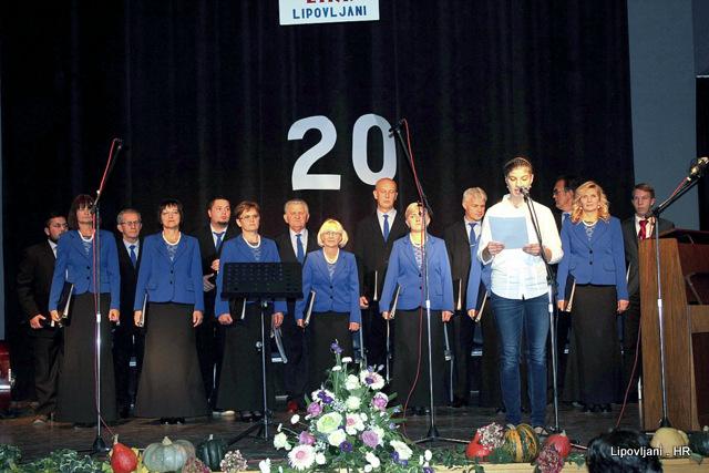 "Svečanim koncertom obilježena  20. obljetnica osnutka MPZ ""Lira"""