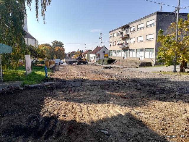 Započeli radovi na projektu Rekonstrukcija Trga sv. Josipa i Trga hrvatskih branitelja  u Lipovljanima