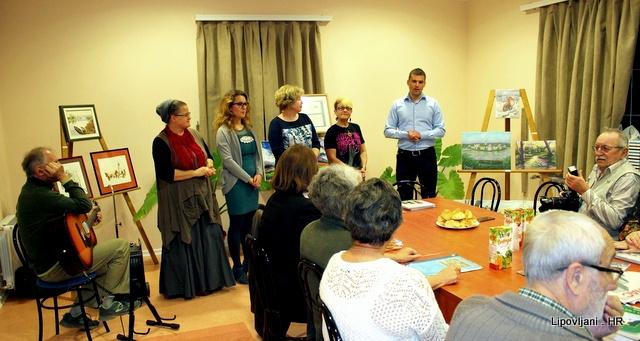 Održana likovno-pjesnička večer u Narodnoj knjižnici i čitaonici u Lipovljanima