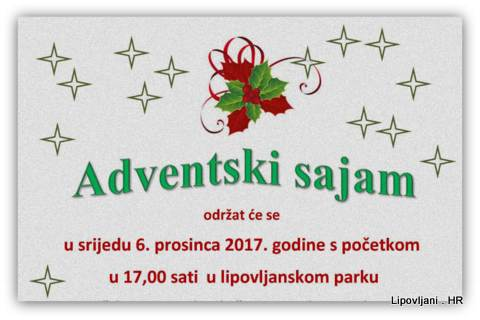 Adventski sajam i svečani program
