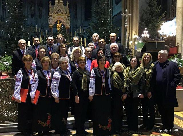 Nastup lipovljanskih udruga na koncertu božićnih pjesama u zagrebačkoj katedrali