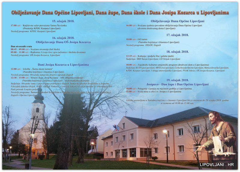 Obilježavanje Dana Općine Lipovljani, Dana župe, Dana škole i Dana Josipa Kozarca u Lipovljanima