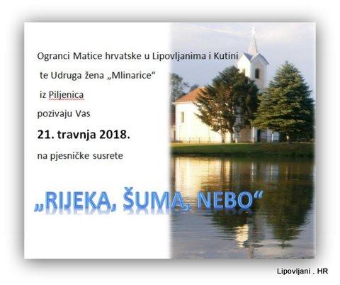 """PJESNIČKI SUSRETI """"Rijeka, šuma, nebo"""""""