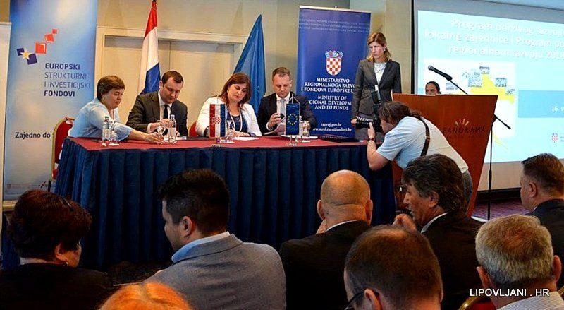 POTPISAN UGOVOR SA MINISTARSTVOM REGIONALNOG RAZVOJA I FONDOVA EUROPSKE UNIJE VRIJEDAN 150.000 KUNA