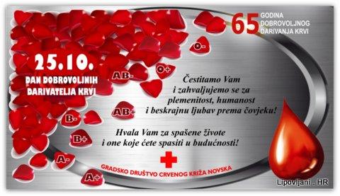 Čestitka u povodu Dana dobrovoljnih darivatelja krvi