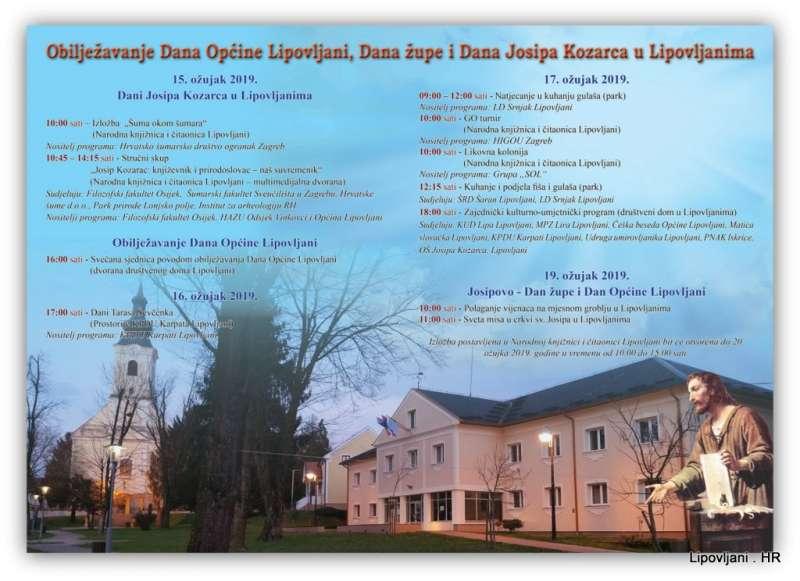 Obilježavanje Dana Općine Lipovljani, Dana župe i Dana Josipa Kozarca u Lipovljanima