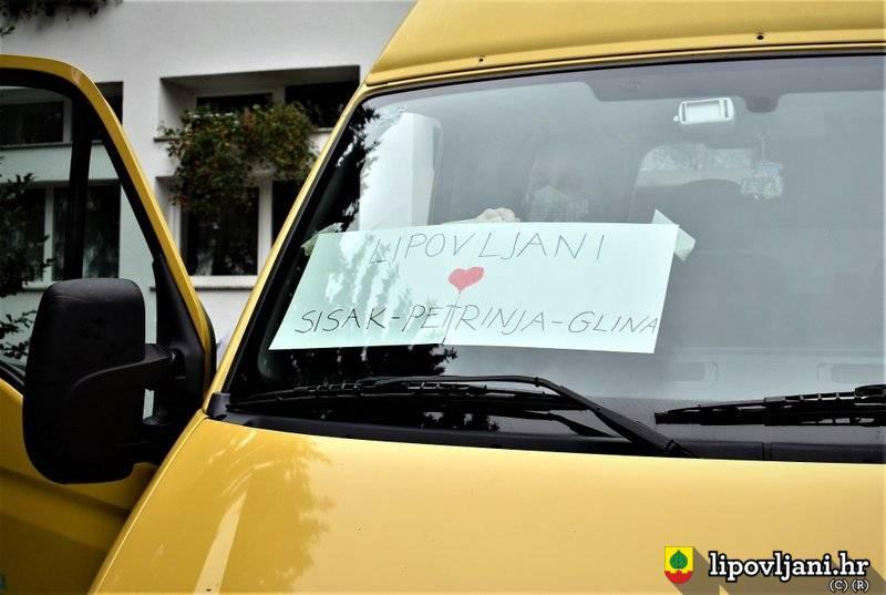 Donacije stanovnika općine Lipovljani odvezene u Petrinju u tri kombi vozila